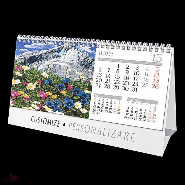 Calendar birou 23x14cm,Munti,12f,2015
