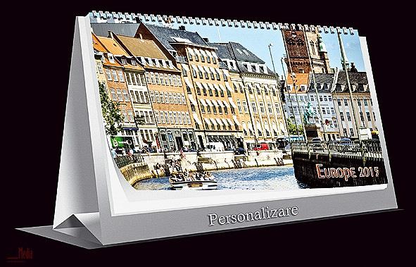 Calendar birou 21x10cm,Europa,6f,2015