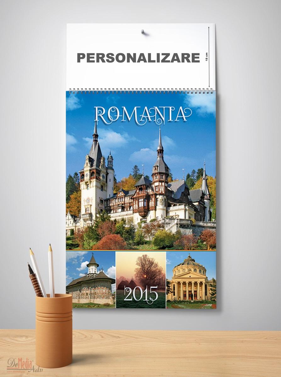 Calendar perete 33x49cm,Romania,12f,2015