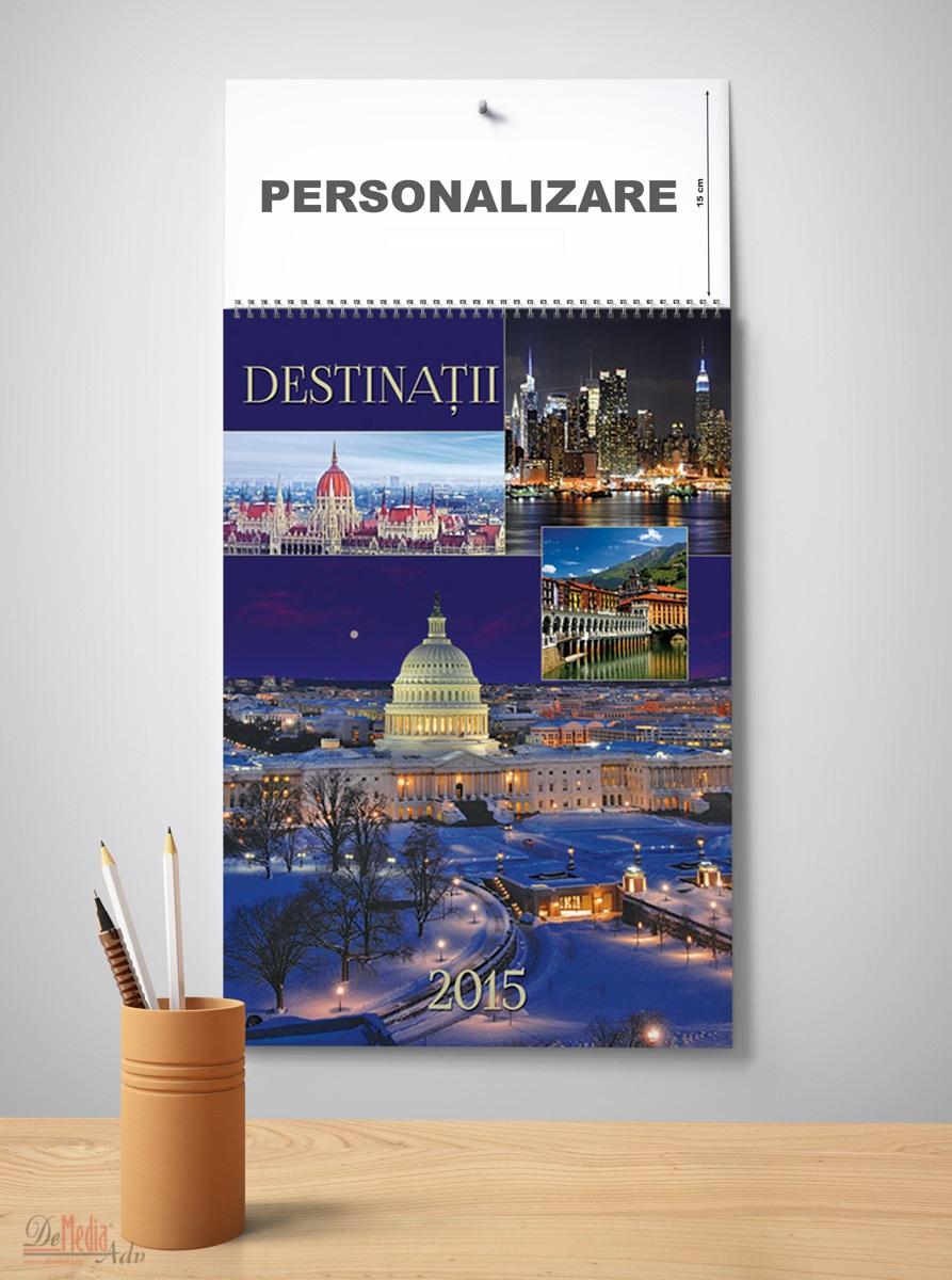 Calendar perete 33x49cm,Destinatii,2015