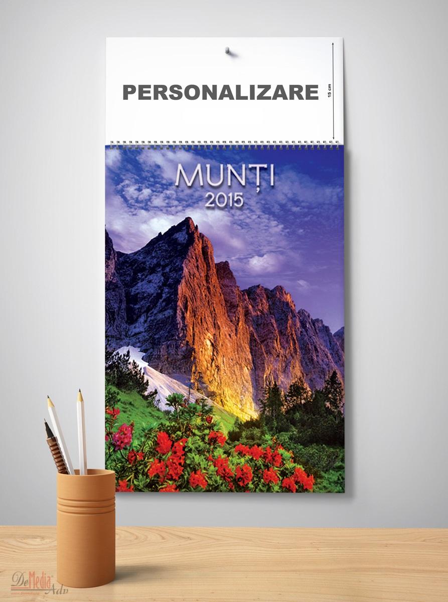 Calendar perete 33x49cm,Munti,12f,2015