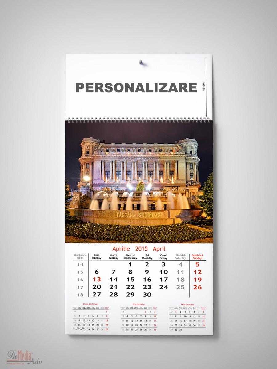 Calendar perete 34x44cm,Bucuresti,2015