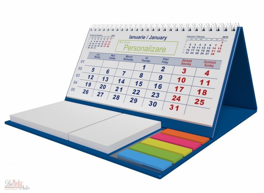 Calendar birou,notite repoz,Clasic,albas