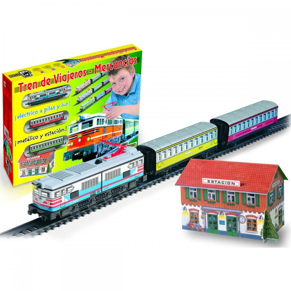 Set tren pasageri,lumini,gara,colorat