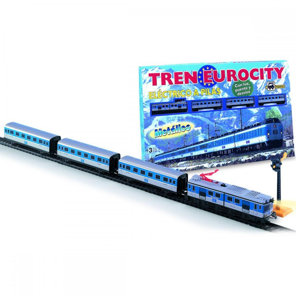 Set tren Eurocity,lumini,pod,accesorii