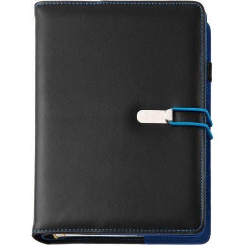 Agenda datata A5,Clio,zilnica,320pagini,negru/albastru
