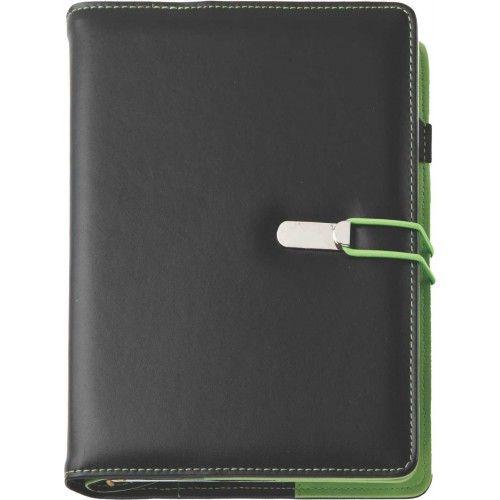 Agenda datata A5,Clio,zilnica,320pagini,negru/verde