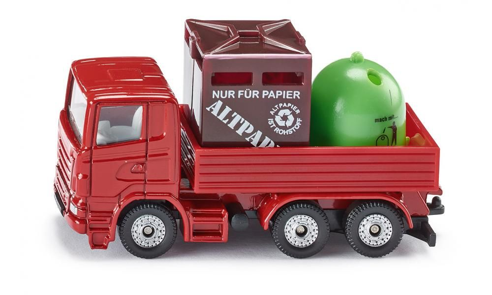 Masina Siku,transport reciclare,blister