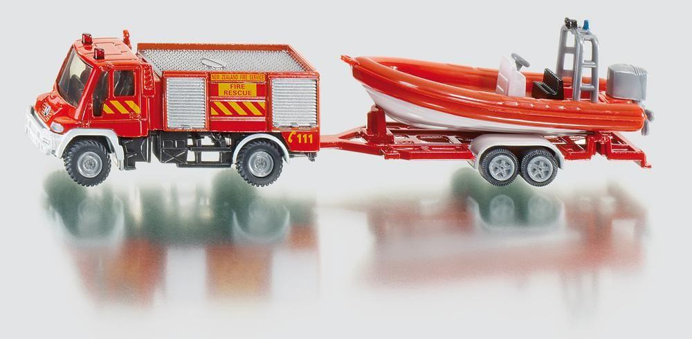 Set Siku,Masina pompieri+barca,blister