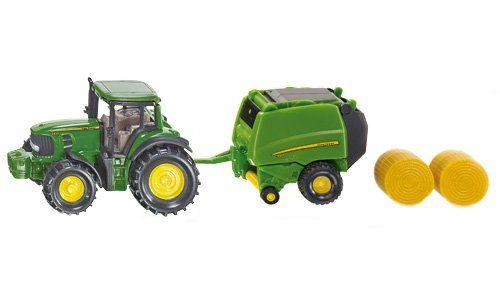 Set Siku,Tractor cu presa baloti,blister