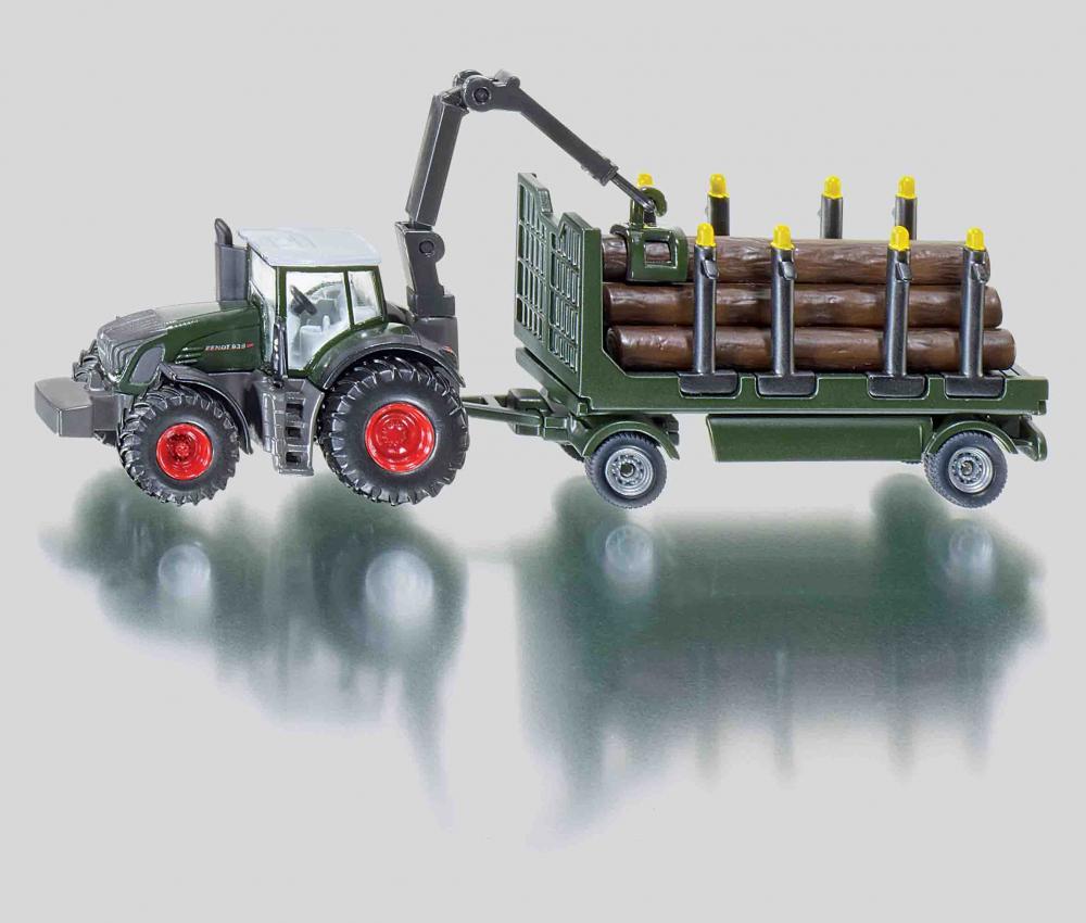 Tractor cu remorca forestiera,Siku,1:87