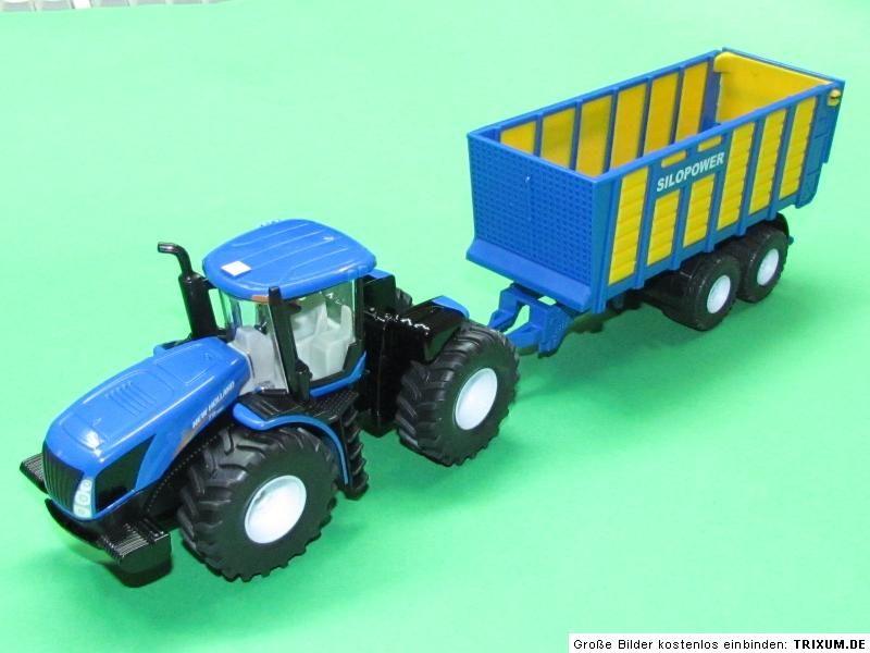 Tractor cu remorca siloz,Siku,1:50