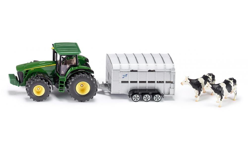 Tractor cu remorca transp.animale,Siku,1:50