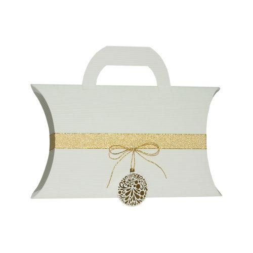 Pernita medie maner alb ornament