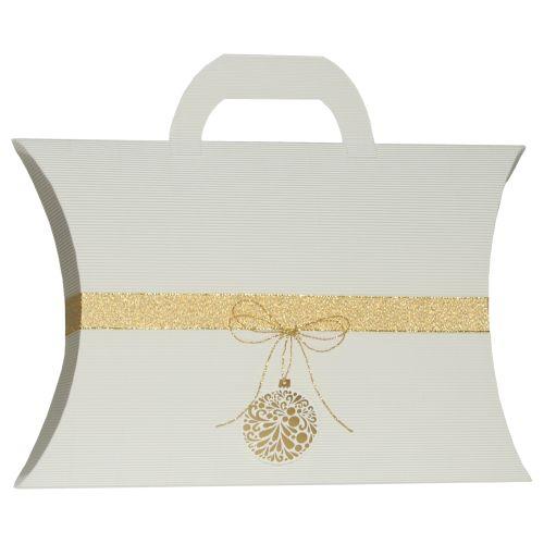 Pernita mare maner alb ornament