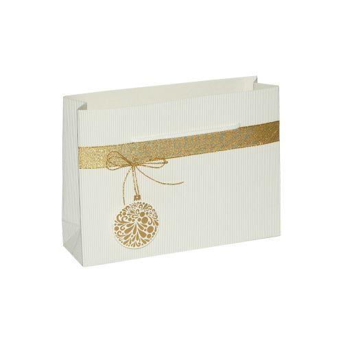 Punga cadou M alb ornament