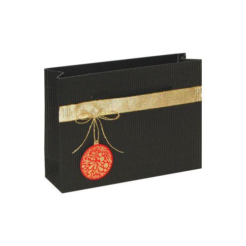 Punga cadou M negru ornament