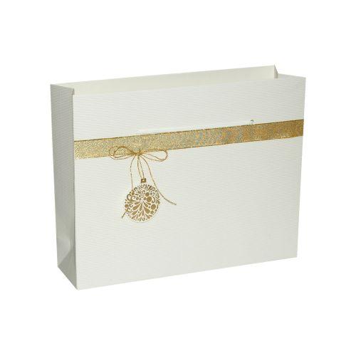 Punga cadou L alb ornament