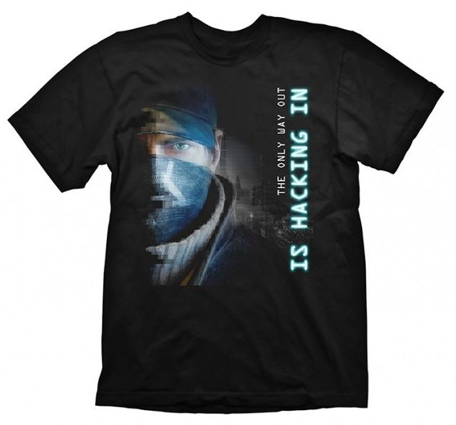 Watch Dogs T-Shirt Hacking In Size M