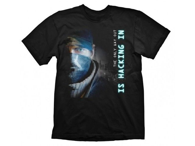 Watch Dogs T-Shirt Hacking In Size L