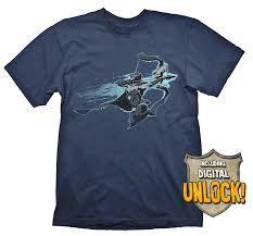 DOTA 2 T-Shirt Drow Ranger + Ingame Code Size XL