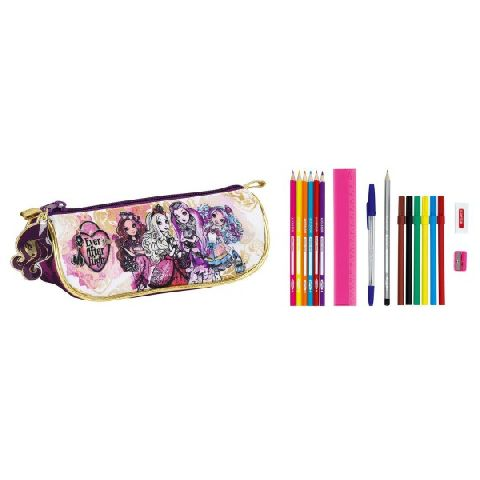 Pouch triunghiular echipat,17pcs,Ever After High