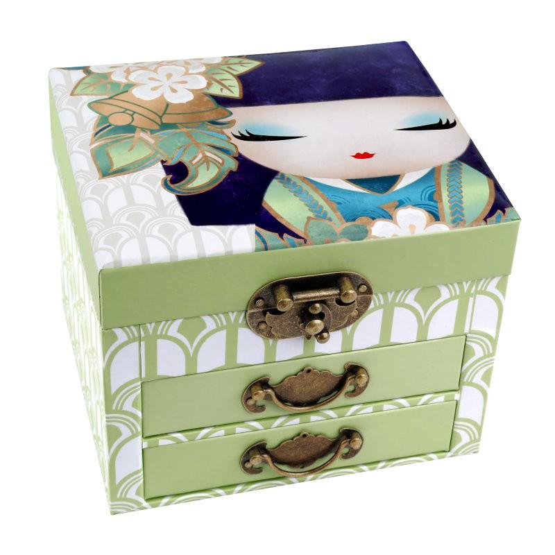 Caseta bijuterii,oglinda+2sertare,Kimmidoll,Masayo