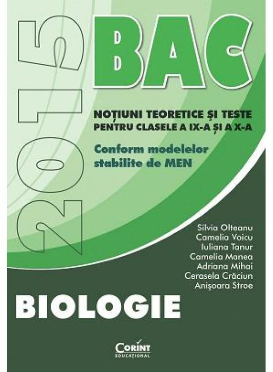 BAC 2015 BIOLOGIE. CLS IX SI X