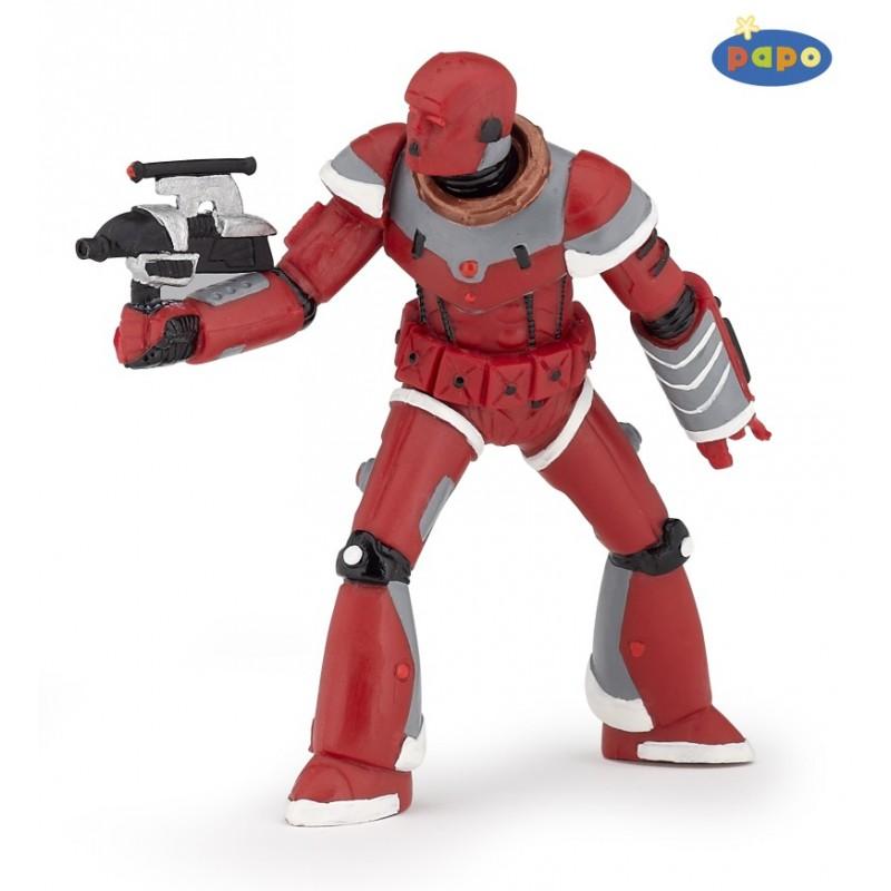Figurina Papo,razboinic ironbot,rosu