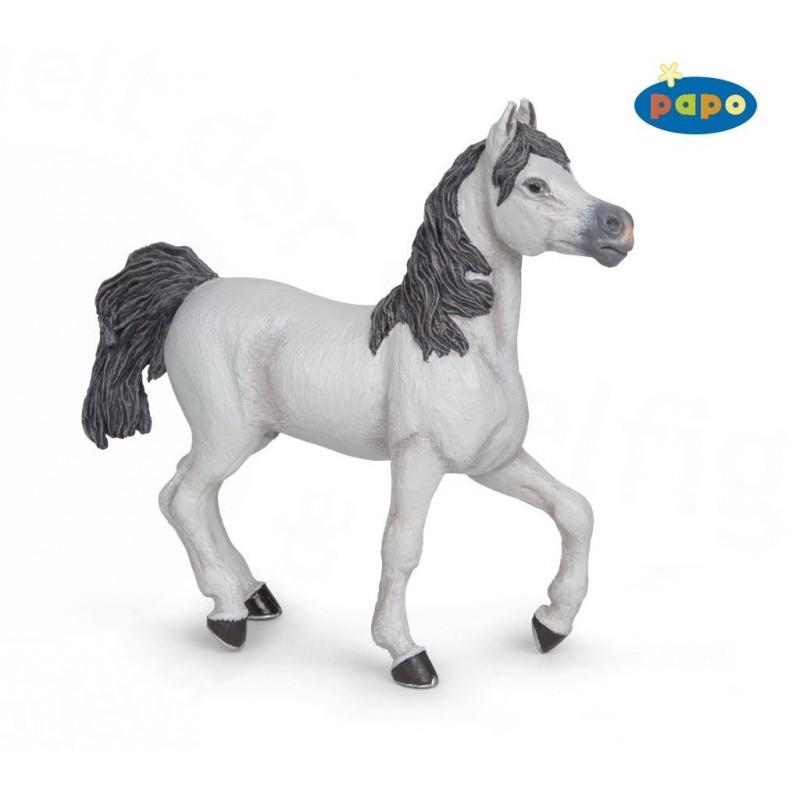 Figurina Papo,cal alb arab