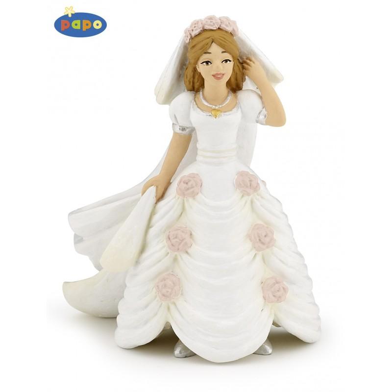 Figurina Papo,mireasa cu floari