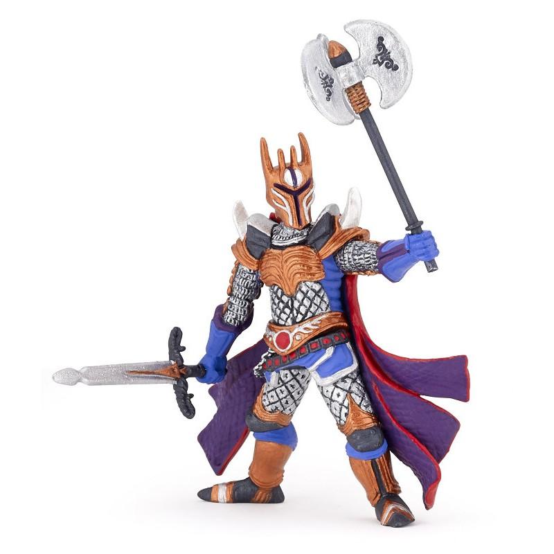Figurina Papo,cavaler cu topor triplu,arg.