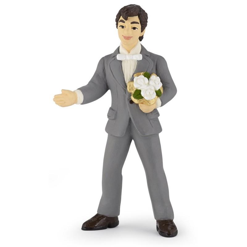 Figurina Papo,mire cu buchet
