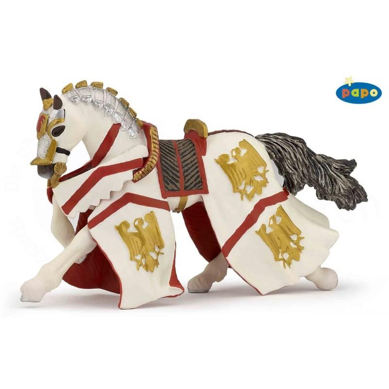Figurina Papo,calul cavalerului Percival