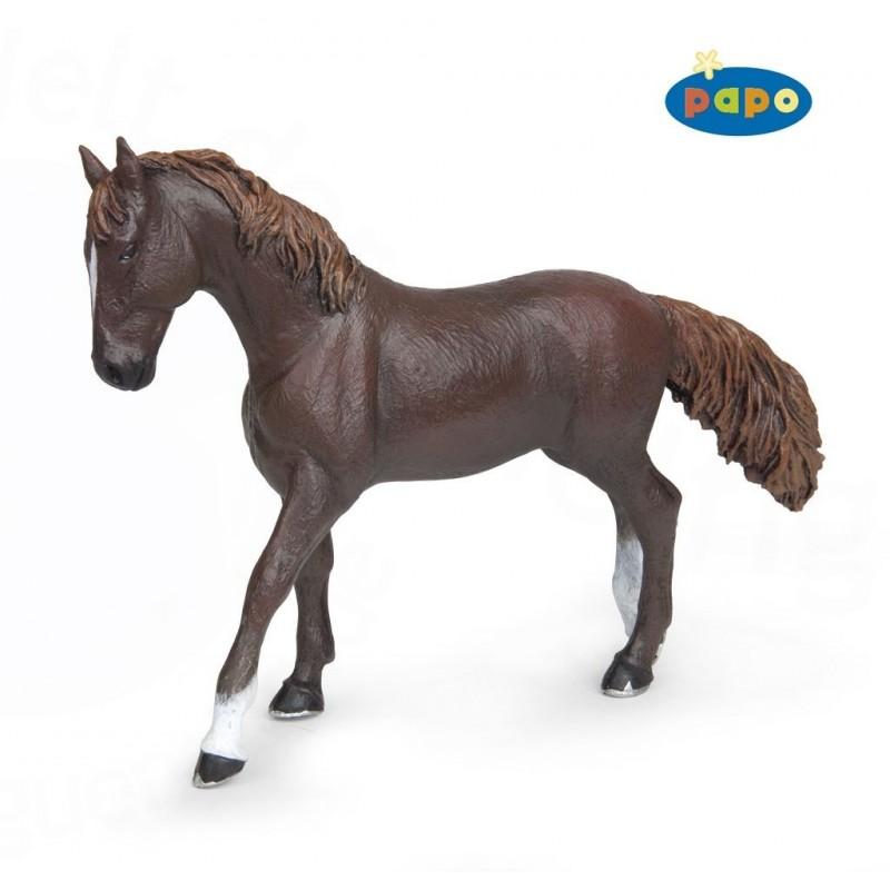 Figurina Papo,iapa Alezan englez negru