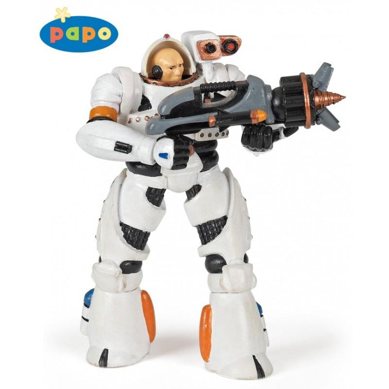 Figurina Papo,razboinic umanoid,alb
