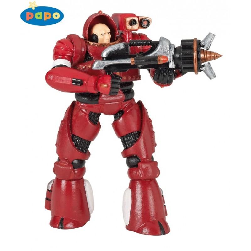Figurina Papo,razboinic umanoid,rosu
