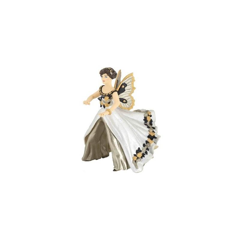 Figurina Papo,zana calare,alb-negru