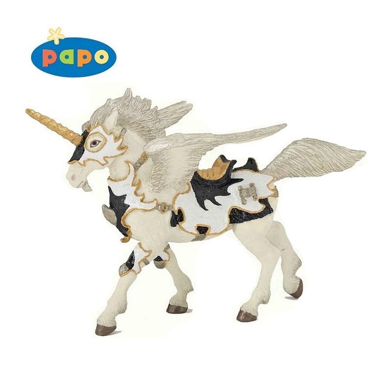 Figurina Papo,unicorn pegasus,alb-negru