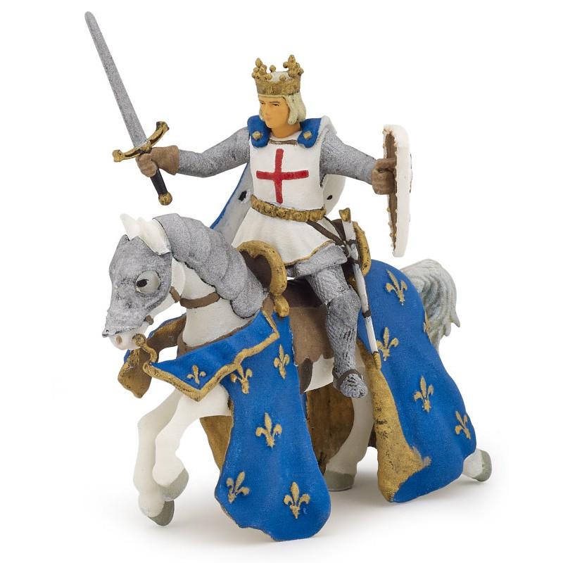 Figurina Papo,Saint Louis pe cal