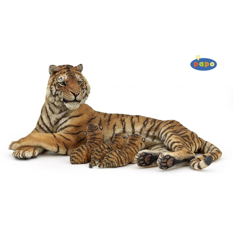 Figurina Papo,tigru cu pui