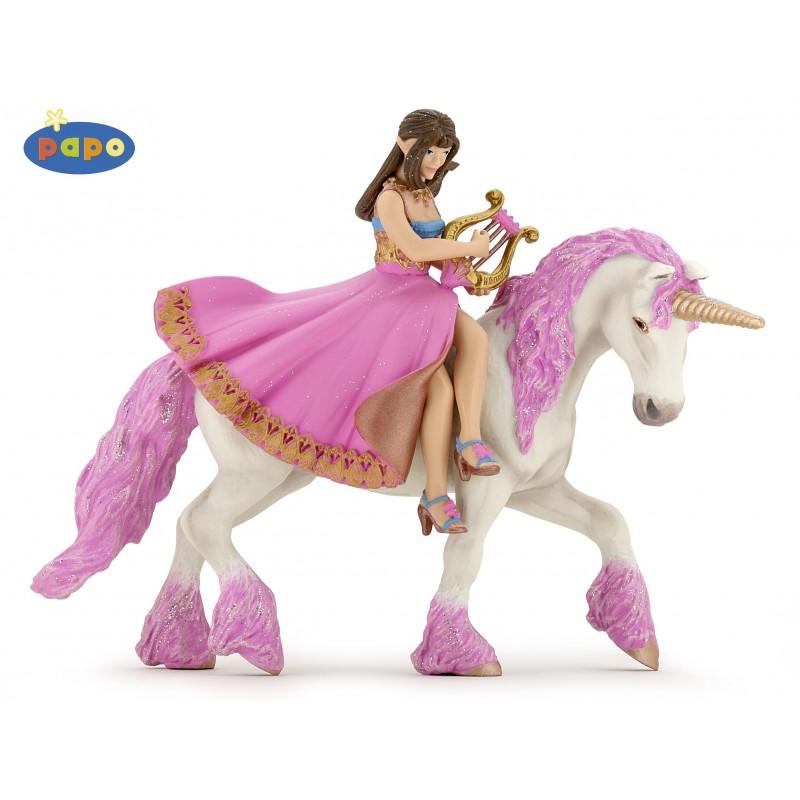 Figurina Papo,printesa cu lira pe cal