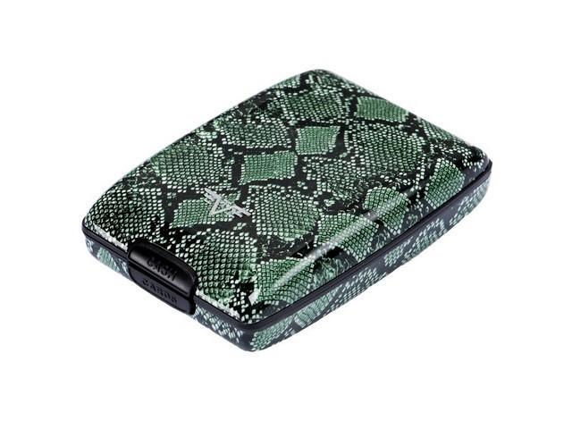 Portmoneu din aluminiu verde Python,Tru Virtu Osyster