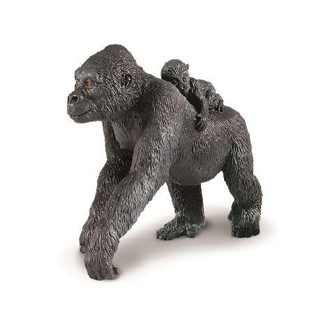 Figurina Safari,gorila de ses cu pui