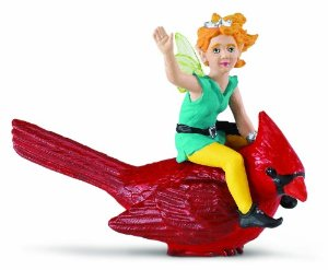 Figurina Safari,Lucy pe o pasare Cardinal
