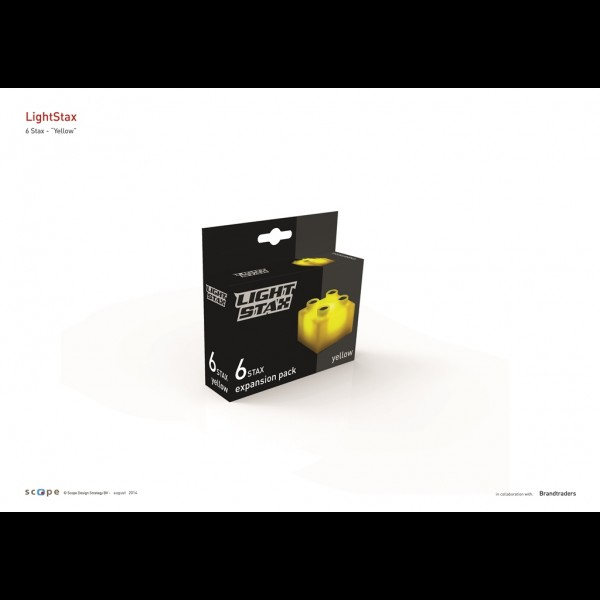 Light Stax,cuburi galbene,6b/set