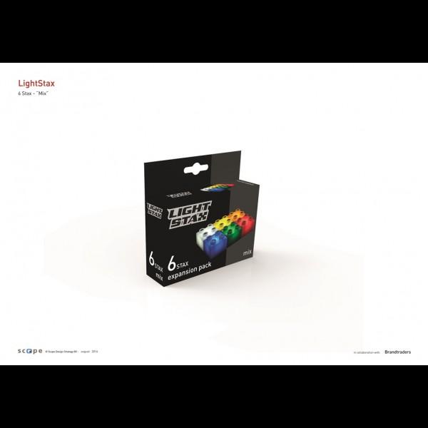 Light Stax,cuburi div.culori,6b/set
