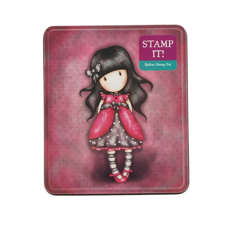 Stampile,cutie metalica,9buc/set,Ladybird
