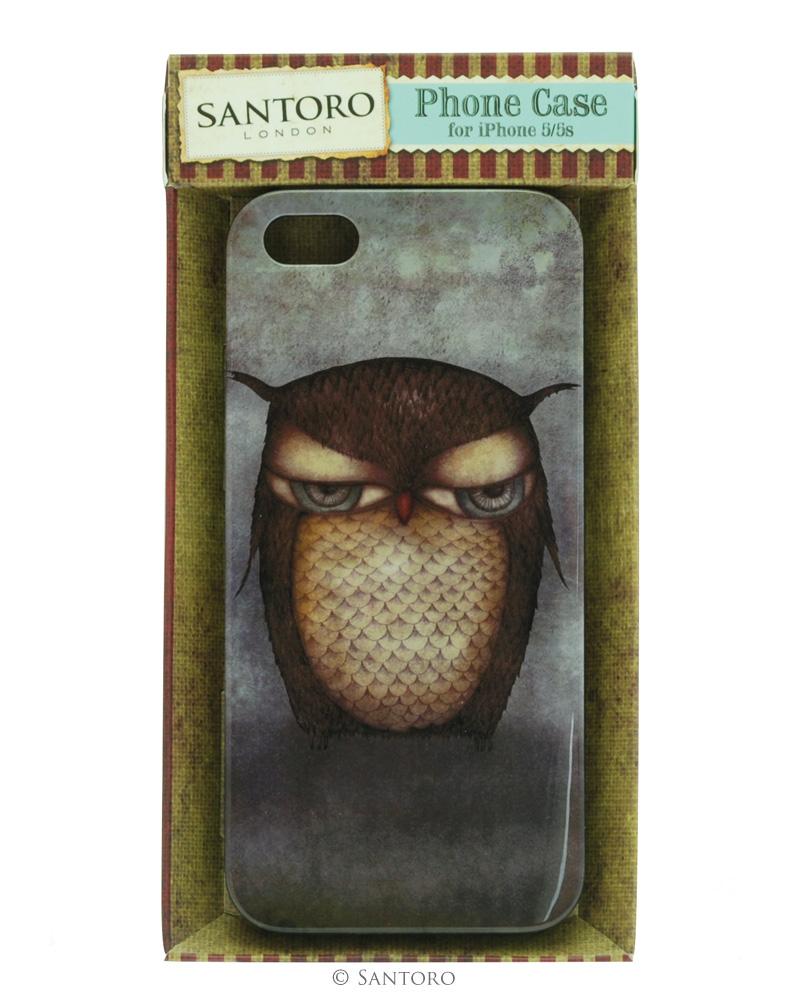 Carcasa iPhone 5/5s,Grumpy Owl
