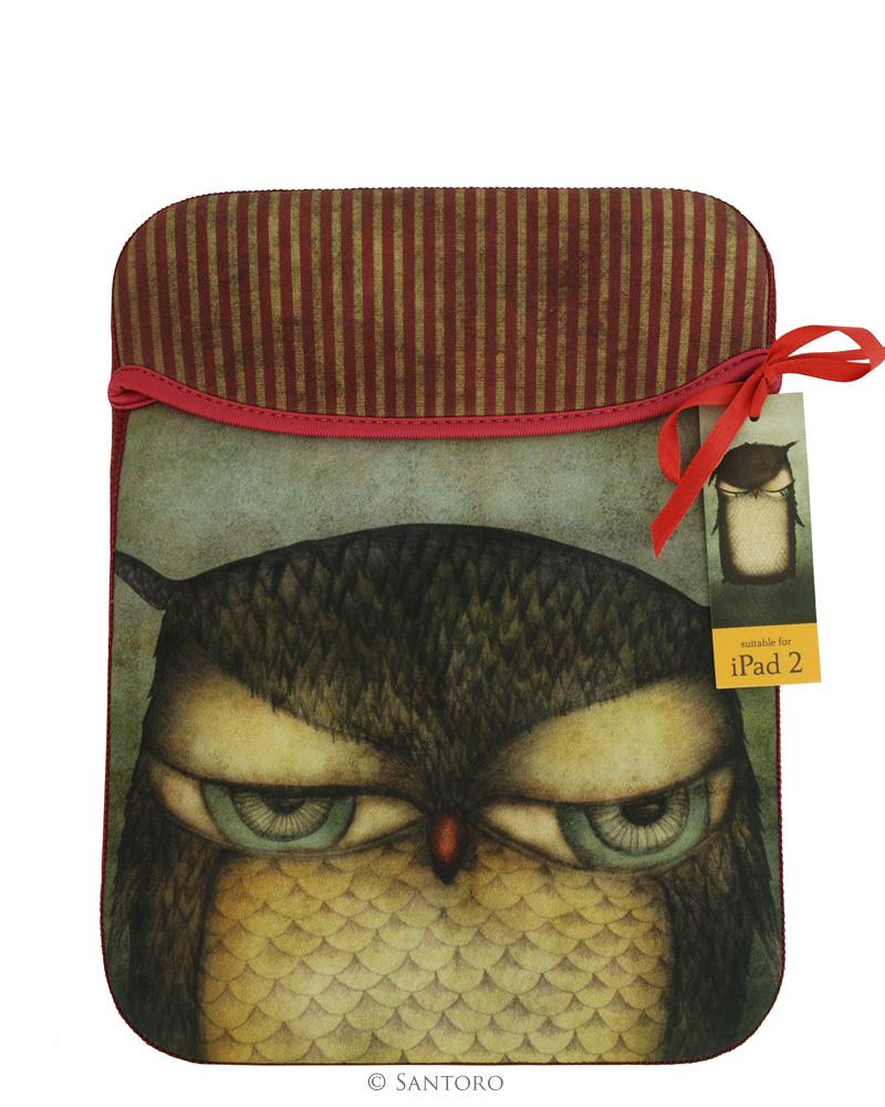 Husa iPad Grumpy Owl